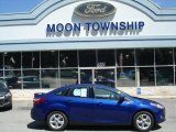 2012 Sonic Blue Metallic Ford Focus SE Sport Sedan #66272932
