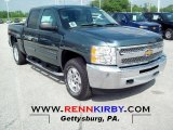 2012 Blue Granite Metallic Chevrolet Silverado 1500 LT Crew Cab 4x4 #66273235