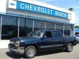 2005 Dark Blue Metallic Chevrolet Silverado 1500 LS Crew Cab #66272858