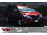 2012 Salsa Red Pearl Toyota Sienna XLE AWD #66272689