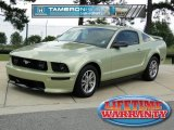 2005 Legend Lime Metallic Ford Mustang V6 Deluxe Coupe #66273369