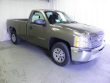 2012 Mocha Steel Metallic Chevrolet Silverado 1500 Work Truck Regular Cab #66337998
