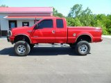 2004 Red Ford F250 Super Duty XLT SuperCab 4x4 #66338373
