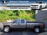 2012 Mocha Steel Metallic Chevrolet Silverado 1500 LT Extended Cab 4x4 #66338346