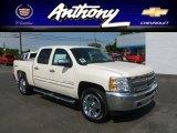 2012 White Diamond Tricoat Chevrolet Silverado 1500 LT Crew Cab 4x4 #66338335