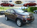 2011 Dark Cherry Kia Sorento EX AWD #66338320