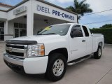 2008 Summit White Chevrolet Silverado 1500 LS Extended Cab #66337438