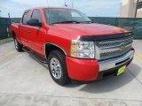2009 Victory Red Chevrolet Silverado 1500 LT Crew Cab #66337801