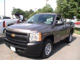 2012 Mocha Steel Metallic Chevrolet Silverado 1500 Work Truck Regular Cab #66337350