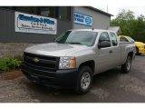 2008 Silver Birch Metallic Chevrolet Silverado 1500 Work Truck Extended Cab 4x4 #66337781