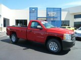 2008 Victory Red Chevrolet Silverado 1500 Work Truck Regular Cab 4x4 #66337722