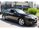 2009 Crystal Black Pearl Acura TSX Sedan #66337649