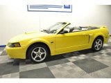 2003 Zinc Yellow Ford Mustang GT Convertible #66410229
