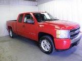 2008 Victory Red Chevrolet Silverado 1500 Z71 Extended Cab #66410185