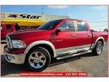 2010 Inferno Red Crystal Pearl Dodge Ram 1500 Laramie Crew Cab #66410139