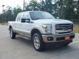 2012 White Platinum Metallic Tri-Coat Ford F250 Super Duty King Ranch Crew Cab 4x4 #66438296