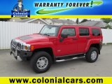 2009 Victory Red Hummer H3  #66438274