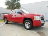 2007 Victory Red Chevrolet Silverado 1500 LS Extended Cab #66438203