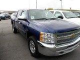 2012 Blue Topaz Metallic Chevrolet Silverado 1500 LT Crew Cab 4x4 #66438126