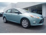 2012 Frosted Glass Metallic Ford Focus SE Sedan #66437846