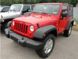 2012 Flame Red Jeep Wrangler Sport S 4x4 #66438091