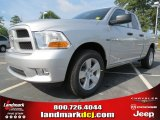 2012 Bright Silver Metallic Dodge Ram 1500 Express Quad Cab #66487661
