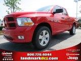 2012 Flame Red Dodge Ram 1500 Express Quad Cab 4x4 #66487660