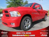 2012 Flame Red Dodge Ram 1500 Sport Quad Cab #66487656