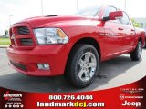 2012 Flame Red Dodge Ram 1500 Sport Crew Cab #66487655