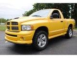2005 Solar Yellow Dodge Ram 1500 SLT Rumble Bee Regular Cab 4x4 #66487976