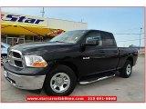 2010 Brilliant Black Crystal Pearl Dodge Ram 1500 ST Quad Cab #66487920