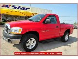 2006 Flame Red Dodge Ram 1500 ST Regular Cab 4x4 #66487919