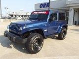 2010 Deep Water Blue Pearl Jeep Wrangler Sahara 4x4 #66487900