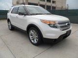 2013 White Platinum Tri-Coat Ford Explorer XLT #66487845