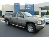 2009 Graystone Metallic Chevrolet Silverado 1500 LT Crew Cab 4x4 #66487761
