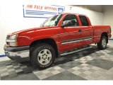 2005 Victory Red Chevrolet Silverado 1500 Z71 Extended Cab 4x4 #66557309