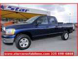 2006 Patriot Blue Pearl Dodge Ram 1500 SLT Quad Cab 4x4 #66556982