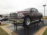 2012 Deep Molten Red Pearl Dodge Ram 1500 Laramie Longhorn Crew Cab 4x4 #66556953