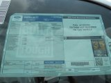 2012 Ford F350 Super Duty XL Regular Cab 4x4 Dually Window Sticker