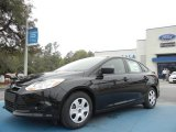 2012 Tuxedo Black Metallic Ford Focus S Sedan #66556707