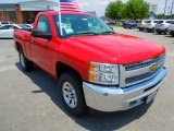 2012 Victory Red Chevrolet Silverado 1500 LS Regular Cab 4x4 #66557155