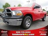 2012 Flame Red Dodge Ram 1500 ST Quad Cab #66615708
