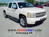 2012 White Diamond Tricoat Chevrolet Silverado 1500 LTZ Crew Cab 4x4 #66615991