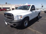 2008 Bright White Dodge Ram 1500 ST Regular Cab #66615966