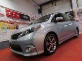 2011 Silver Sky Metallic Toyota Sienna SE #66616186