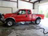 2002 Red Clearcoat Ford F250 Super Duty Lariat SuperCab 4x4 #66616132
