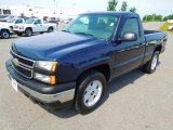 2006 Dark Blue Metallic Chevrolet Silverado 1500 LS Regular Cab 4x4 #66616121