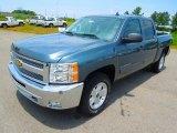 2012 Blue Granite Metallic Chevrolet Silverado 1500 LT Crew Cab 4x4 #66616108