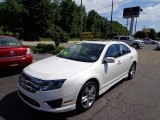 2011 White Platinum Tri-Coat Ford Fusion Sport AWD #66615743