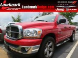 2006 Inferno Red Crystal Pearl Dodge Ram 1500 ST Quad Cab #66615730